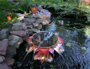 Copper Hosta Fountain